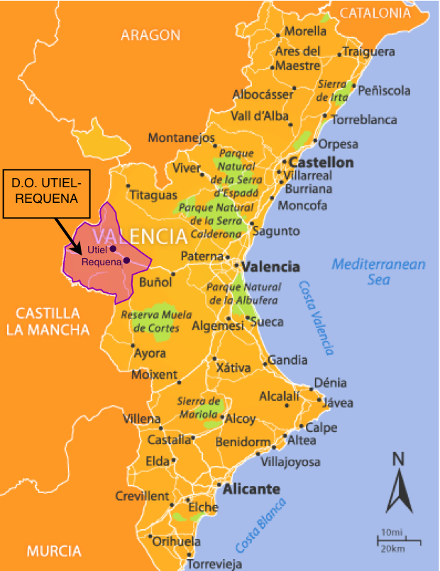 Валенсия бенидорм на карте