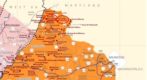 Map of Loudoun County wineries
