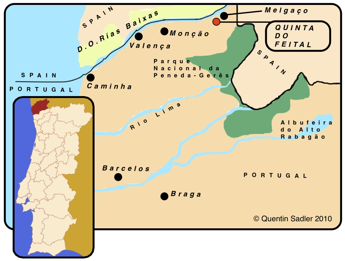 Quinta Do Feital A Minho Marvel Quentin Sadlers Wine Page - Portugal map minho