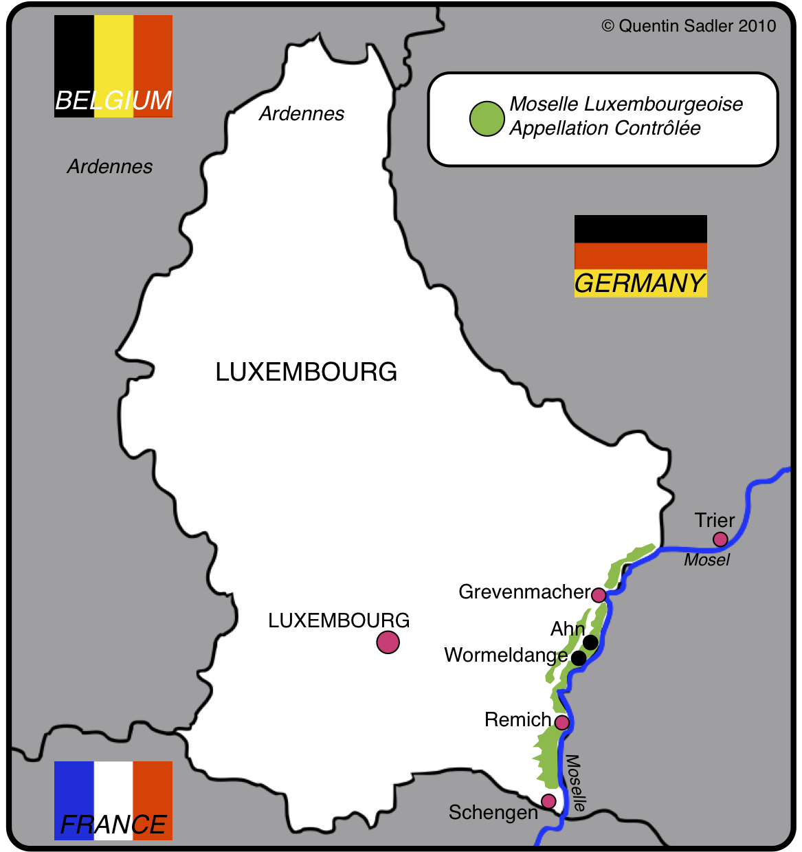 Map Of France And Luxembourg.France Quentin Sadler S Wine Page