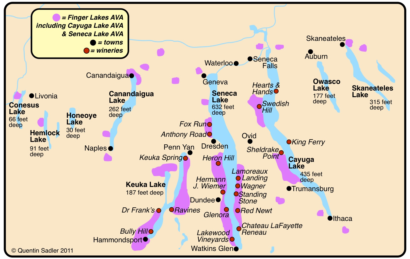 cayuga lake wineries map Foxy Terroir What Are Foxy Wines Quentin Sadler S Wine Page cayuga lake wineries map