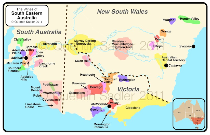 map of south eastern australia click for a larger view non watermarked pdf versions