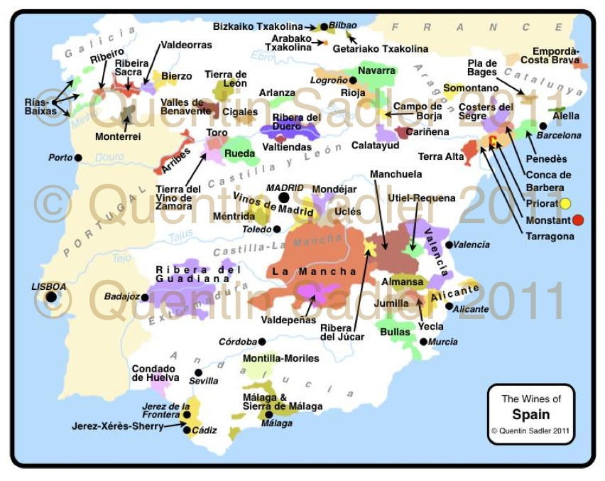 Map Of Spain Rioja.Rioja Wine Map Quentin Sadler S Wine Page