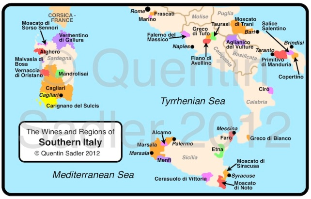 Map Of Southern Italy Regions.Wine Map Italy Quentin Sadler S Wine Page