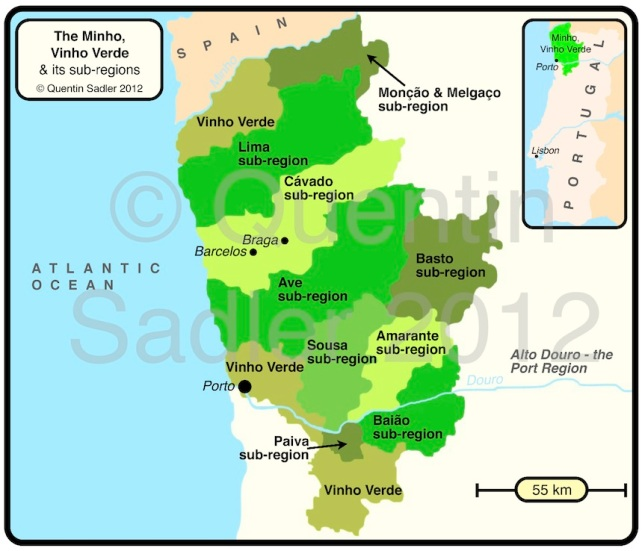 Map of Vinho Verde - click for a larger view