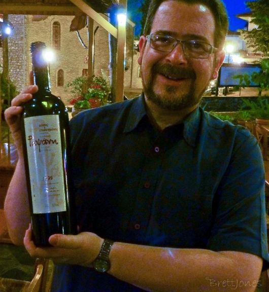 Me with my favourite vintage of Tsantalis Rapsani