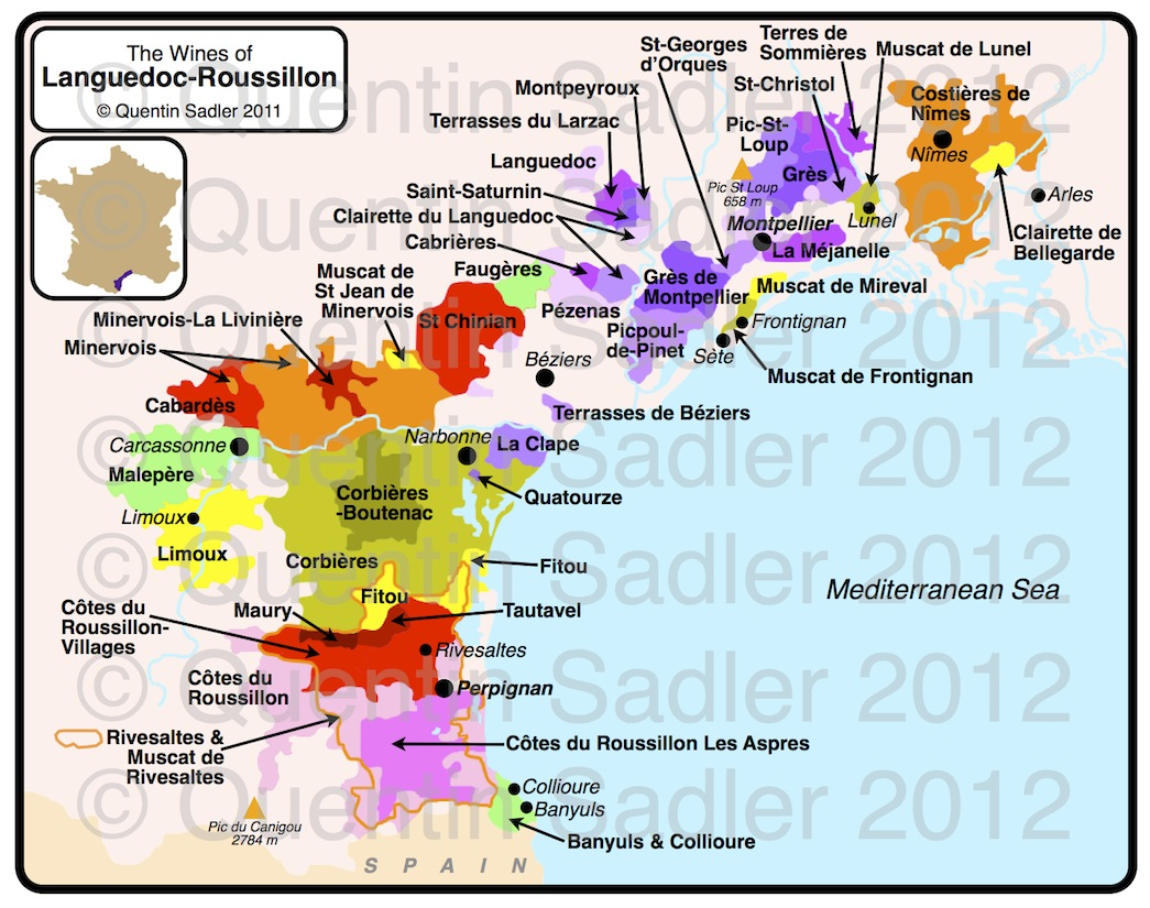 LanguedocRoussillon Quentin Sadlers Wine Page