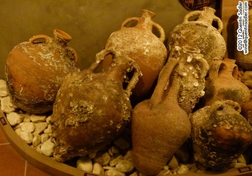 Ancient amphorae at Domaine Gerovassiliou in Greece