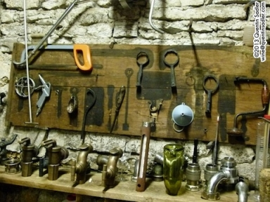The tool rack at Domaine Joseph Voillot. I loved their Volnay wines, especially the sumptuous, yet mineral 2010 Volnay 1er Cru Les Caillerets.