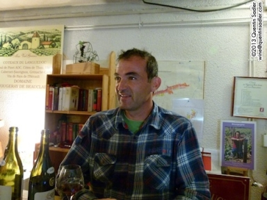 Patrice Olliver of Domaine Fougeray de Beauclair in Marsannay. Amongst many other lovely wines he makes an intriguing and rather good white from 100% Pinot Beurot which is the local name for Pinot Blanc.