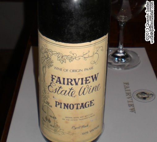 Charles Back spoilt us with one of Fairview's earliest vintages of Pinotage. It had a savoury fragility that showed up the Pinot Noir side of its parentage.