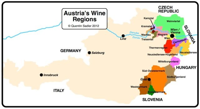 Austria's wine regions - click for a larger view.