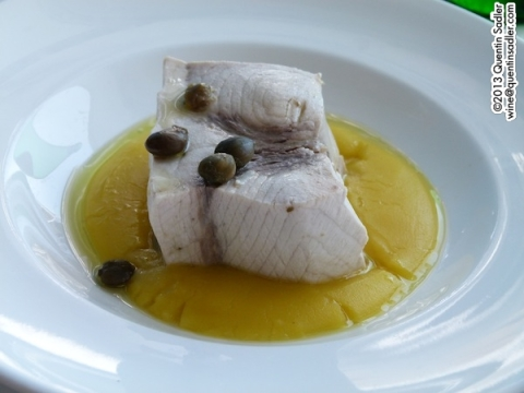 Steamed swordfish - pesce spada - a stunning dish, simple, delicious and memorable.