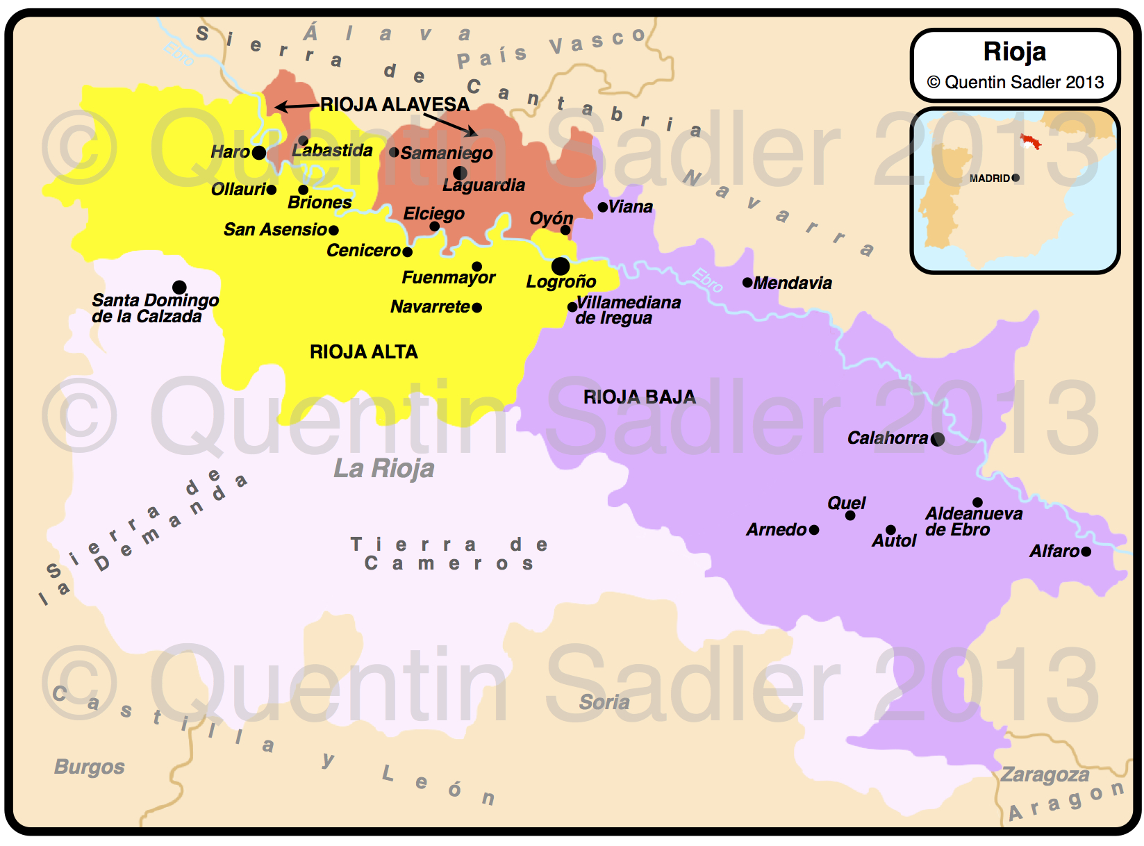Rioja wine map Quentin Sadlers Wine Page