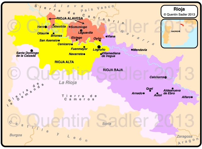 Rioja Region Spain Map.Rioja Wine Map Quentin Sadler S Wine Page