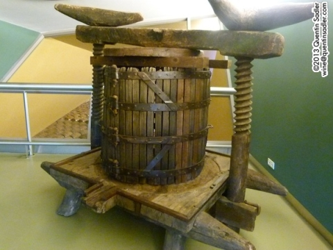 An early 19th century press at Faustino.