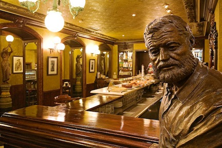 Hemingway at the Café Iruña.