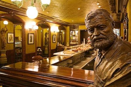 Hemingway at the Café Iruña.