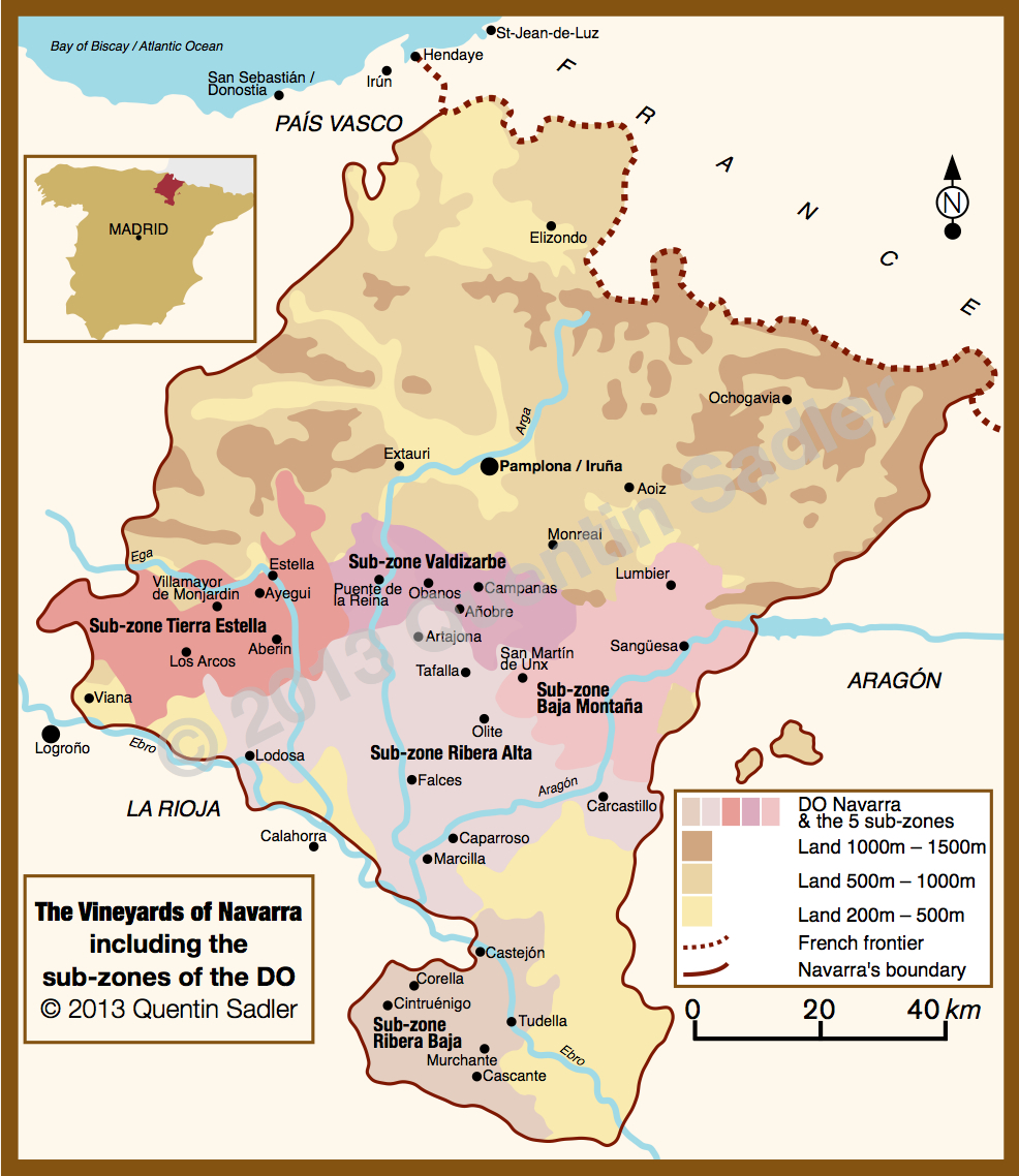 Map Of Spain Navarra.Spanish Wine Map Quentin Sadler S Wine Page