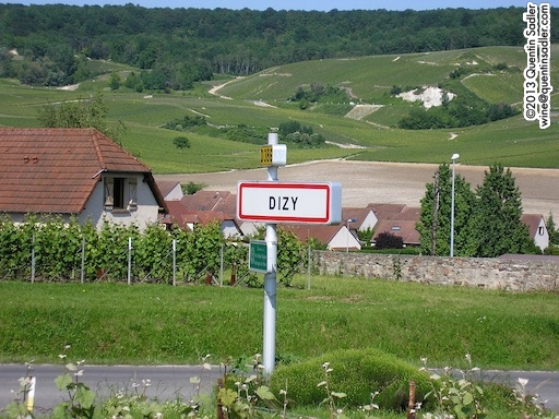 The wonderfully named Champagne village of Dizy, Bouzy is not far away either!