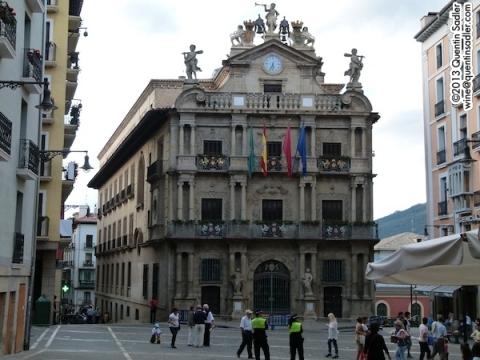 Pamplona's beautiful town hall.