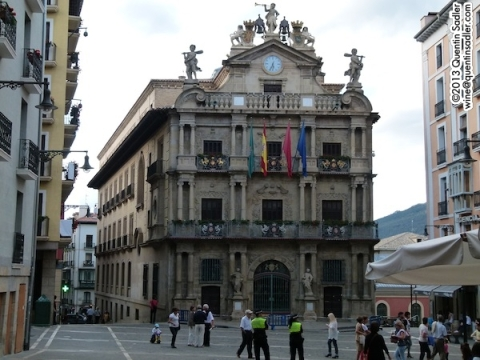 Pamplona's beautiful town hall.