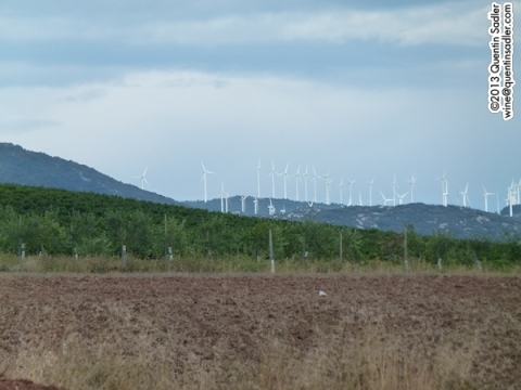 Navarra's landscape - count the windmills - Don Quixote would have had his work cut out today!
