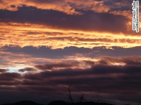 A dramatic Navarra sunset.