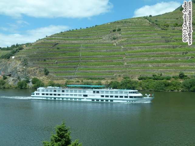 The beautiful terraced vineyards of the Douro Valley.