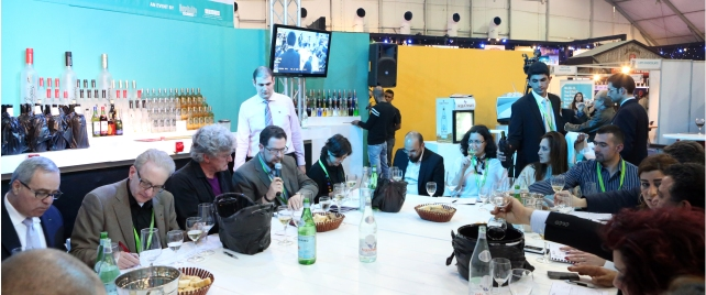 Me hogging the microphone at the post judging round-table discussion at Horeca.