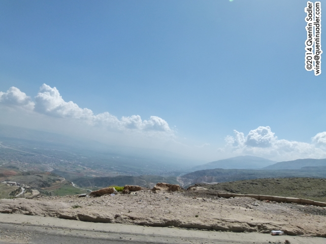 Looking down on the Bekaa Valley