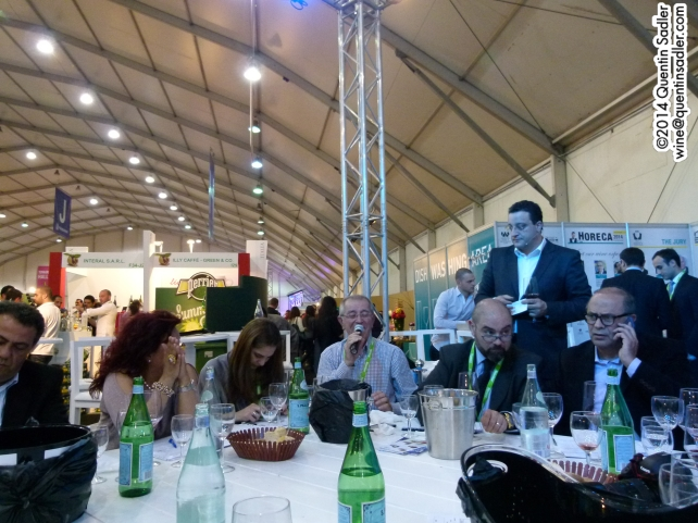 The Horeca Show during the round table wine discussion.