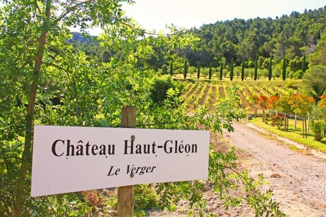 The lovely Château Haut-Gléon in Corbières.