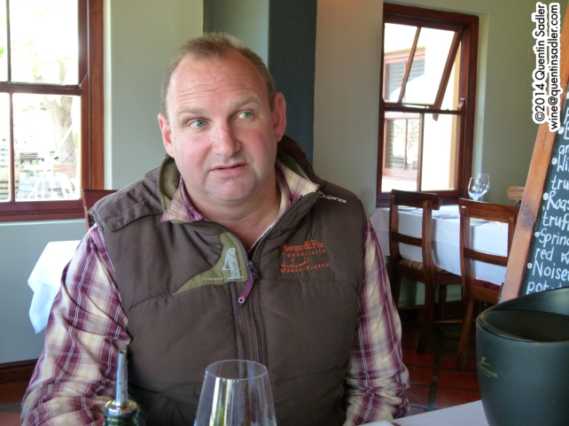 Johan Joubert, chief winemaker at Kleine Zalze and Zalze.