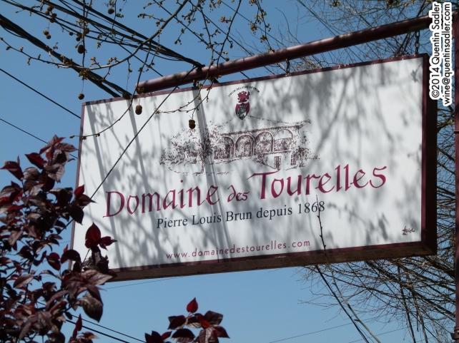 The sign at Domaine des Tourelles.