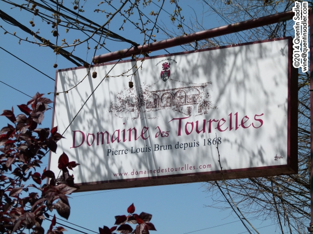 The sign at Domaine des Tourelles.
