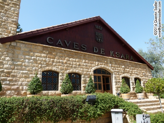 The entrance to Château Ksara.