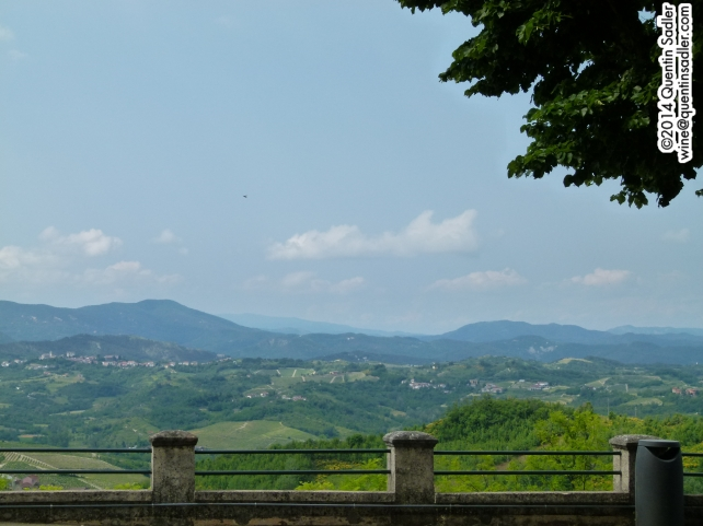 The view from the Santuario di Nostra Signora della Guardia.