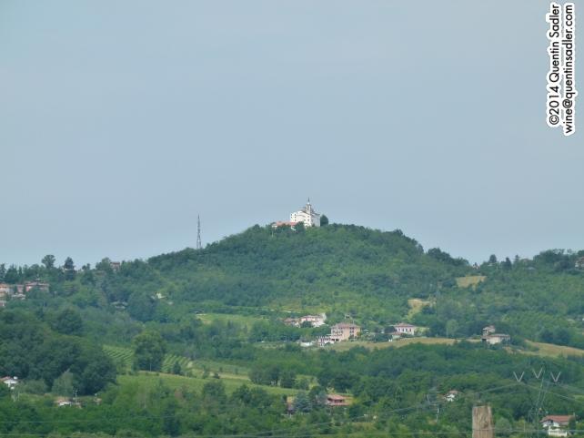 The Santuario di Nostra Signora della Guardia dominates the landscape around gave.