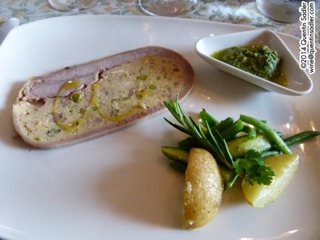 The main course, Chema a typical genoese dish of sliced meatloaf stuffed with vegetables.