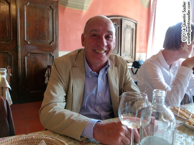 Piero Broglia owner of Azienda Agricola Gian Piero Broglia and our host for lunch.