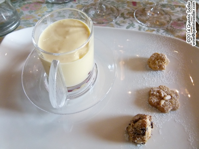 The zabaglione, one of the best desserts I have ever tasted.