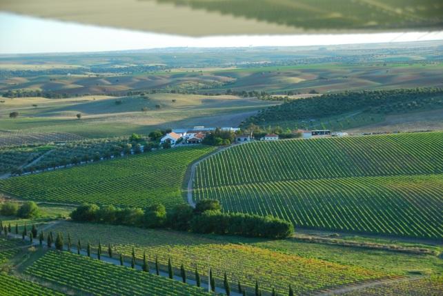 Cortes de Cima from the air - photo courtesy of Cortes de Cima.