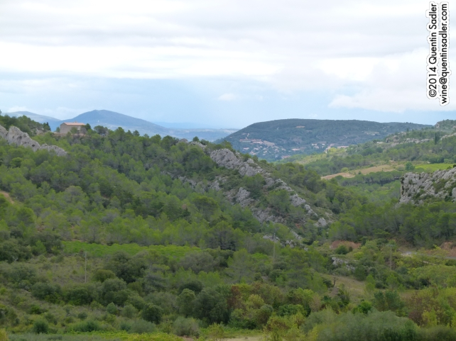 The rugged landscape of the Languedoc.