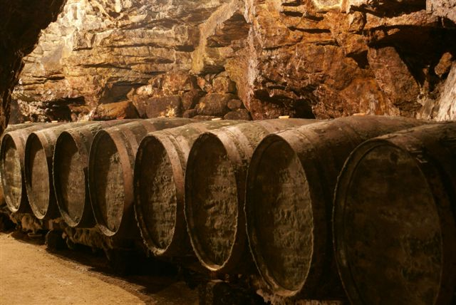 The cellar at Domaine du Colombier