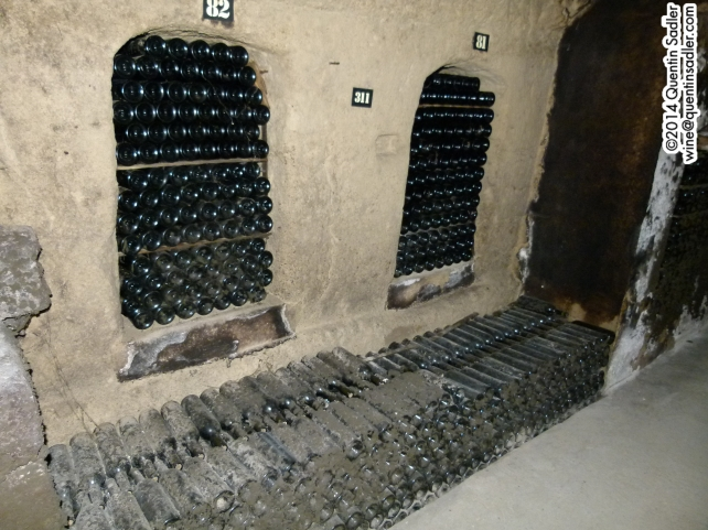 Old bottles in the caves at Château Ksara.
