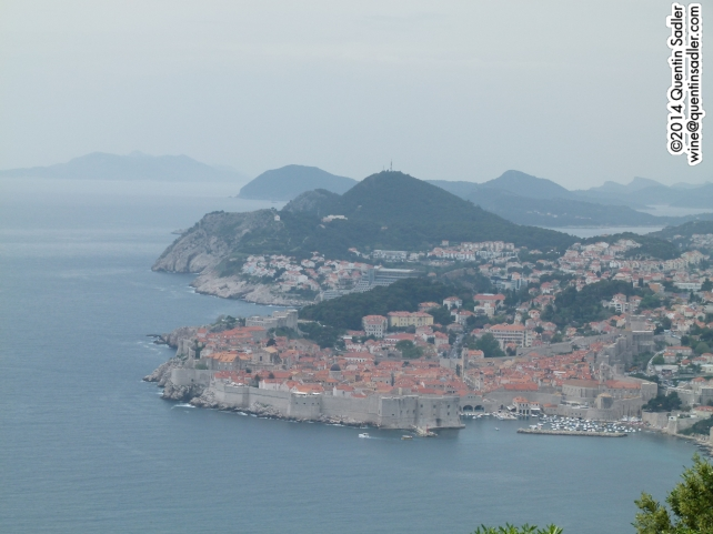 Dubrovnil from the south.
