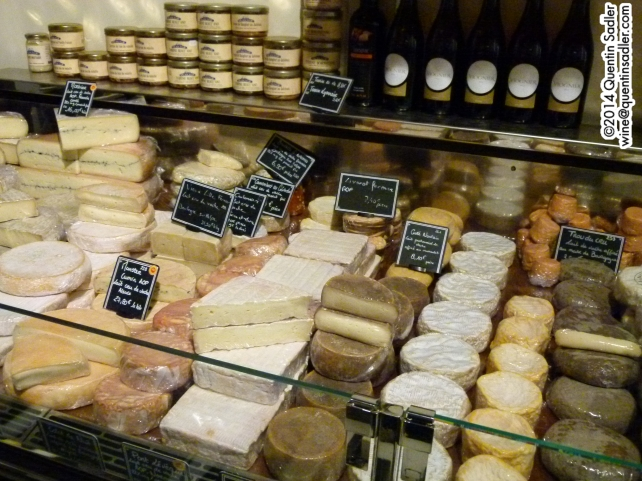 A fabulous cheese shop in Bordeaux.