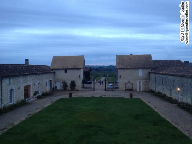 Château Cantin - the view from the window in the turret that you can see on the label. That was my bedroom.