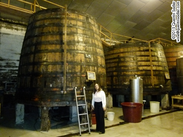 Large wooden vats for ageing Port. These are at Quinta do Noval.